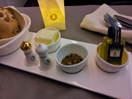 The cutest magnetic salt and pepper shakers, ever. From What's It Really Like to Fly Turkish Airlines Business Class?