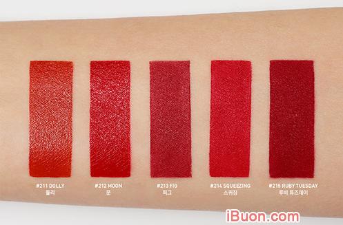 Cùng Swatch 5 màu son đỏ của bộ sưu tập 3CE RED RECIPE + Hình 2