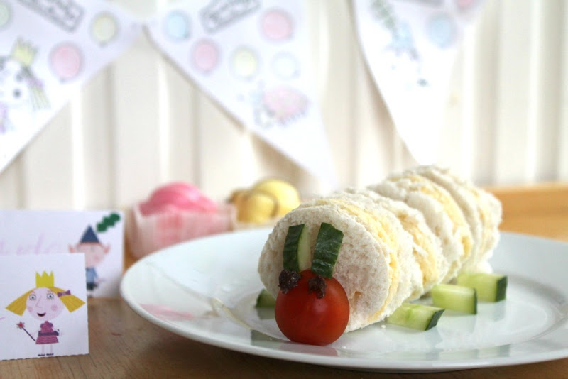 ben and holly caterpillar sandwiches