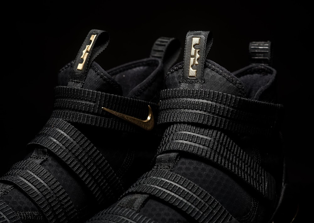 0874358f181 Detailed Look at Nike LeBron Soldier 11 Black and Gold ...