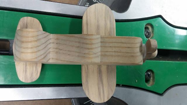Handmade Wood Toy Experimental Aircraft