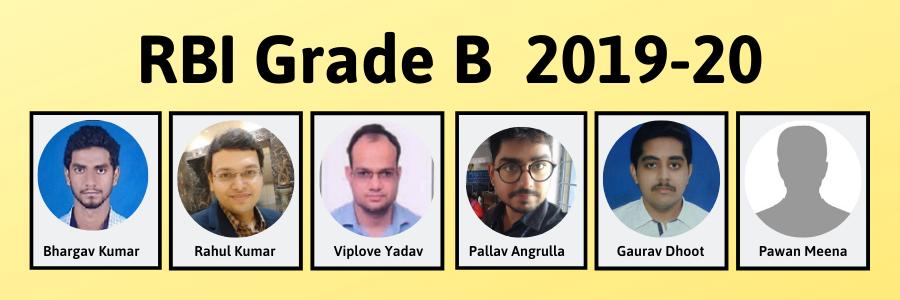 RBI Grade B 2019--20