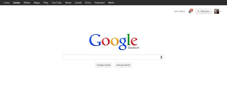 Google aktuelles Design
