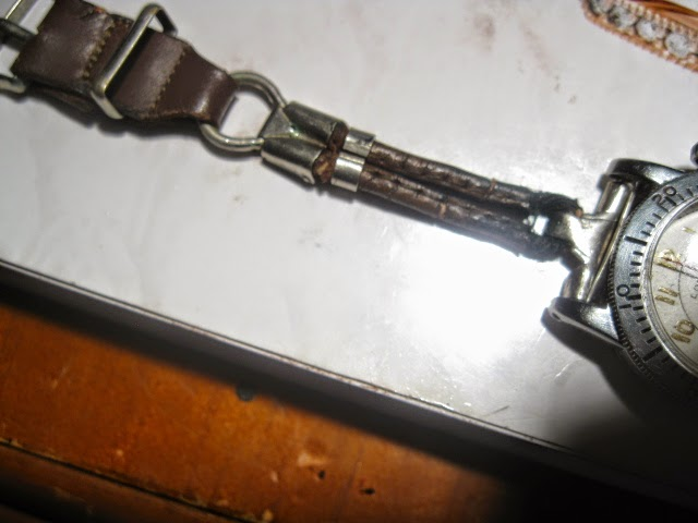 1935 LONGINES WEEMS ORIGINAL 1935 LEATHER METAL ROP STRAP - IMG_1009.JPG