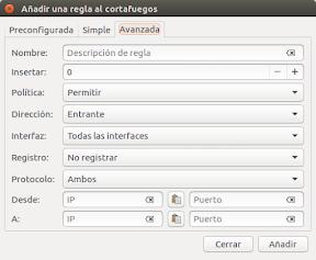 Protege Ubuntu en redes públicas - reglas avanzadas