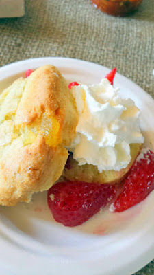 Portland Monthly Country Brunch 2015, Daily in the Pearl Candied Ginger Shortcake with tarragon scented whipped cream