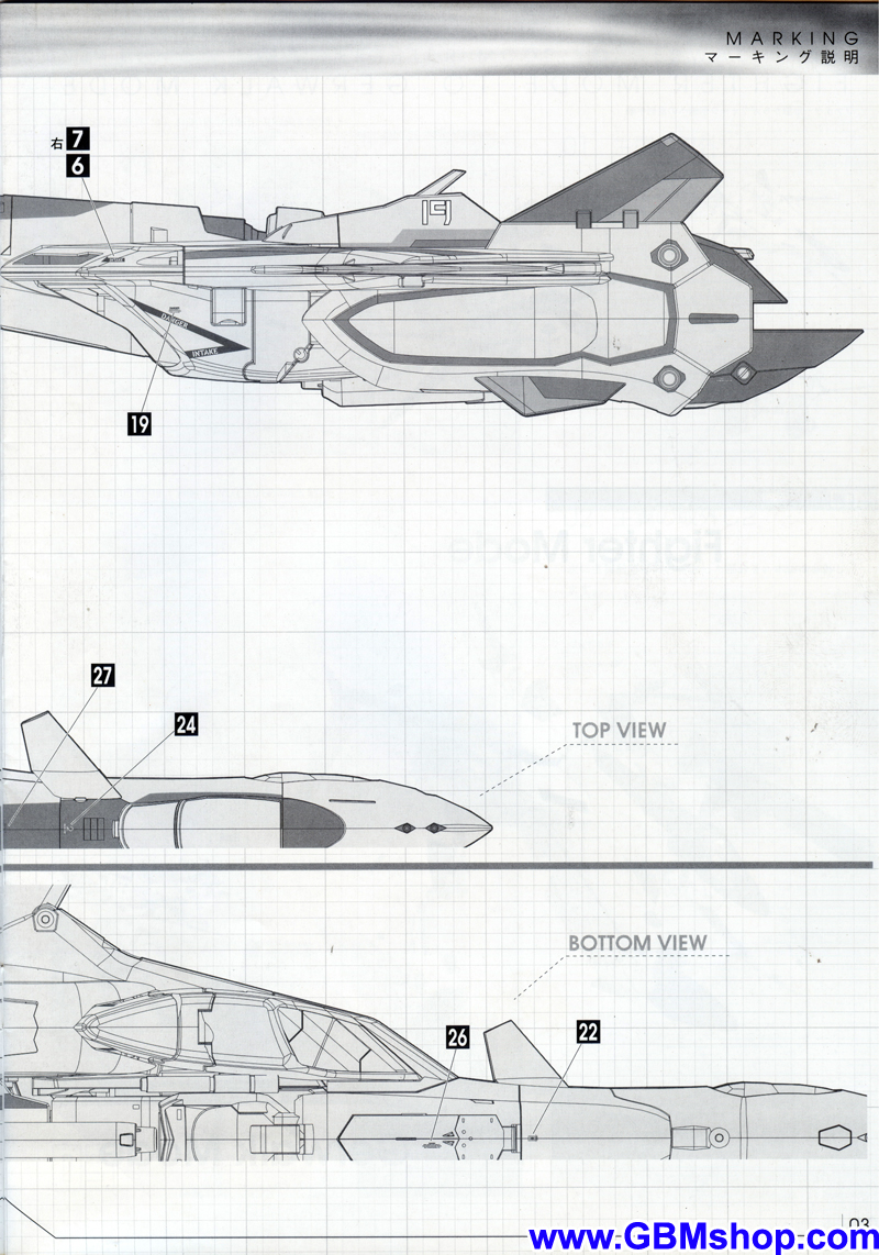 Macross Plus YF-19 Transformation Manual Guide