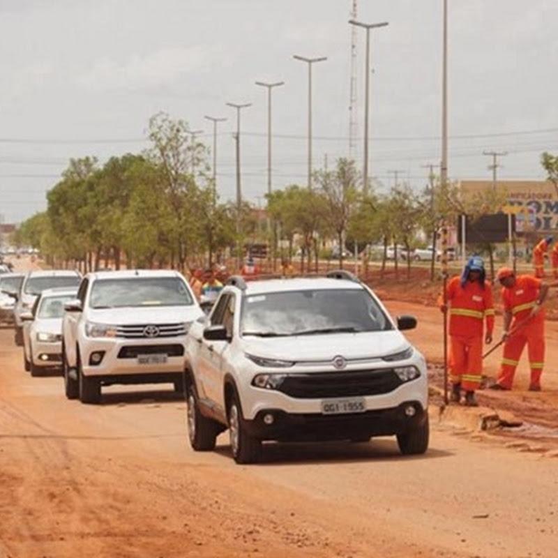 Prefeitura retira grande camada de areia da Avenida Presidente Dutra