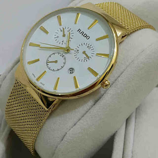 jam tangan Rado tgl rantai pasir gold