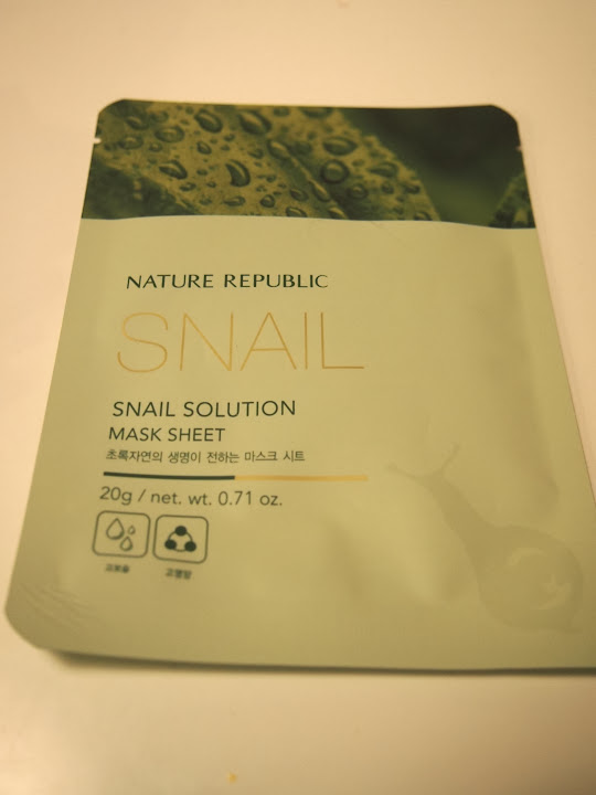 nature repubric snail mask sheet