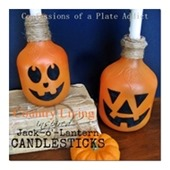 Country Living Inspired Jack-o'-Lantern Candlesticks