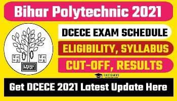 Bihar Polytechnic 2021, DCECE 2021, Bihar Polytechnic infoavi,