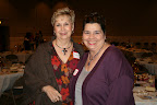 . Nancie Thomas, left, and Linda Filbert, both volunteers from Justin Boots