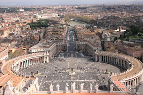 St. Peter's Square from above