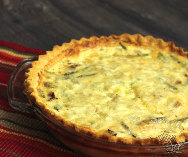 Bacon asparagus cheese quiche