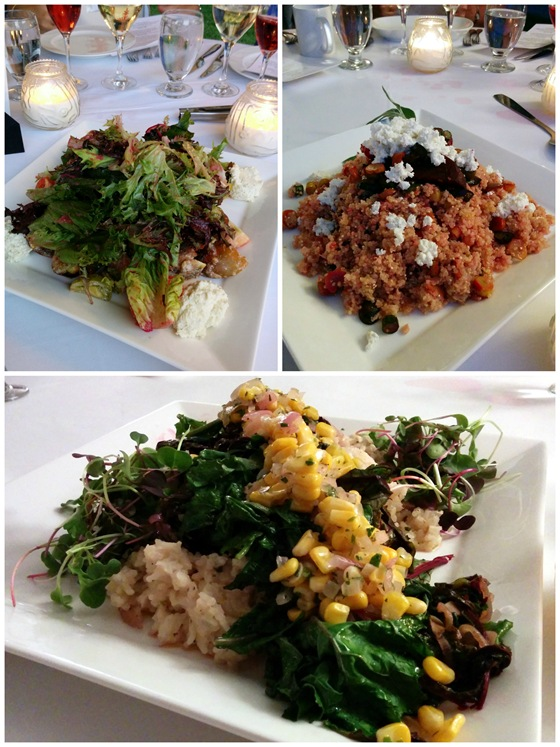 Seasonal Greens, Quinoa Salad, and Wild Mushroom Risotto paired well with Forbidden Fruit