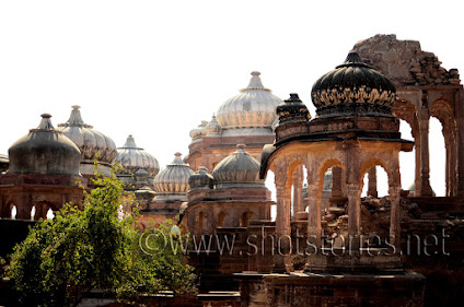 The place where the last rites of the Queens of Jodhpur were performed, dotted…