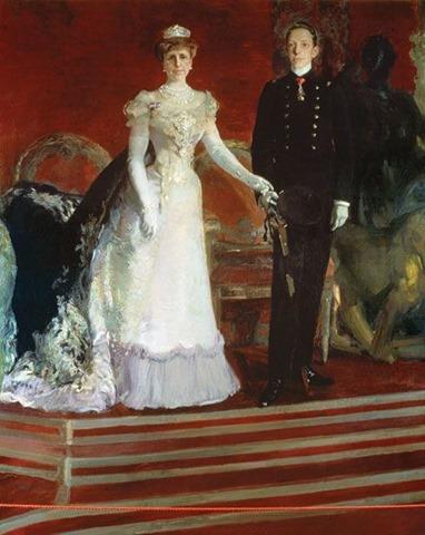 Alfonso XIII con su Madre