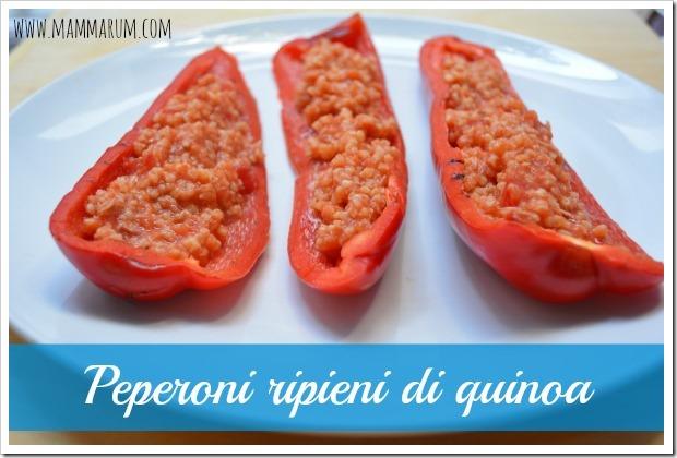 ricetta peperoni ripieni quinoa
