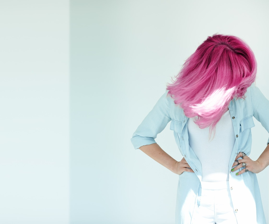 Pink hair, don't care.