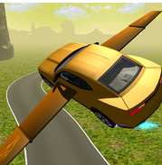 Flying Muscle Car Simulator 3D v2 Apk