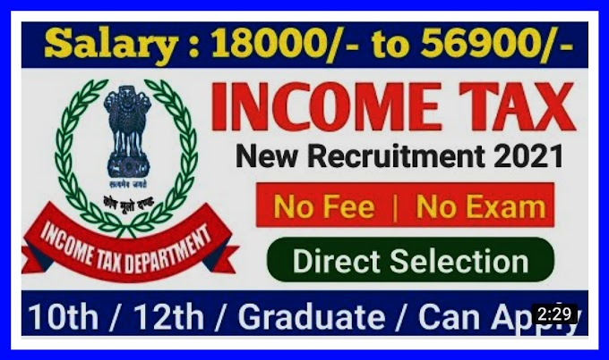Income Tax Department Recruitment 2021 For 155  Income Tax Inspector Posts|check Details