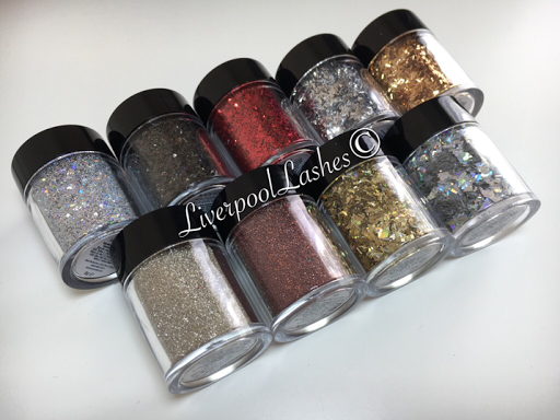 liverpoollashes liverpool lashes nail tech cnd shellac lecente winter 2016 collection dynamite multi glitz ash strands cardinal Sahara silver holographic black gold