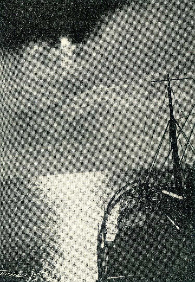 Con la mar en calma. Foto tomada por el capitan Sastre Carreras. Revista Iberica. Fecha indeterminada.jpg