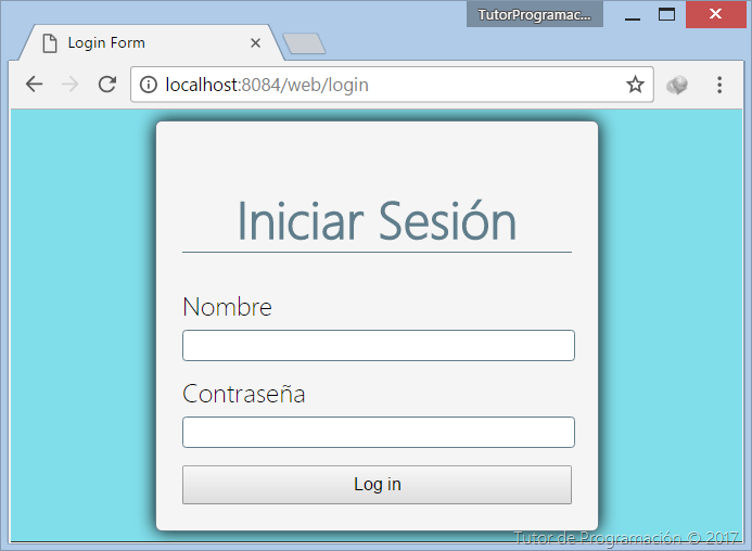 Tutorial Spring Security - formulario de login