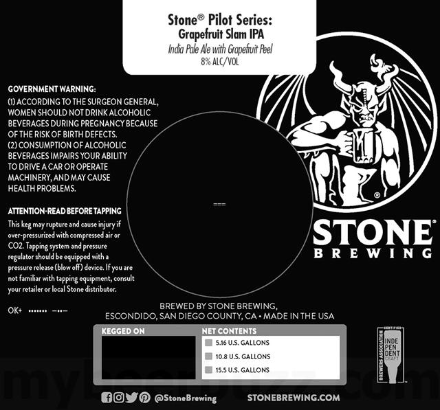 Stone Brewing Pilot Series - Grapefruit Slam IPA