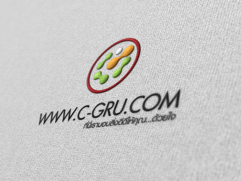 เทคนิคการทำภาพ Logo แนวลายปักเสมือนจริง Emgroidery_Logo