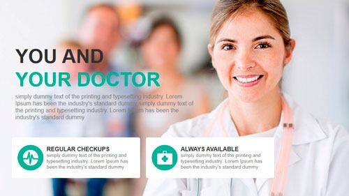 Plantilla PowerPoint para sector salud, sanitario, farmacia, dentistas, aseguradoras, médicos, etc