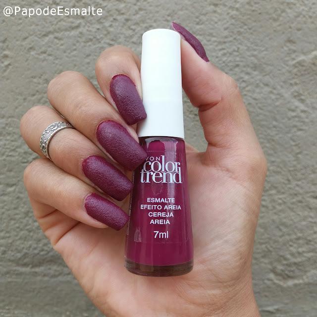 Esmalte Cereja Areia - Avon Color Trend