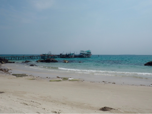 Pier out to the ocean by Nature Beach, Koh Rong, Cambodia