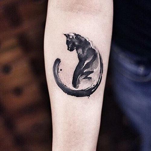 incrvel_pincelada_gato_preto_tatuagem