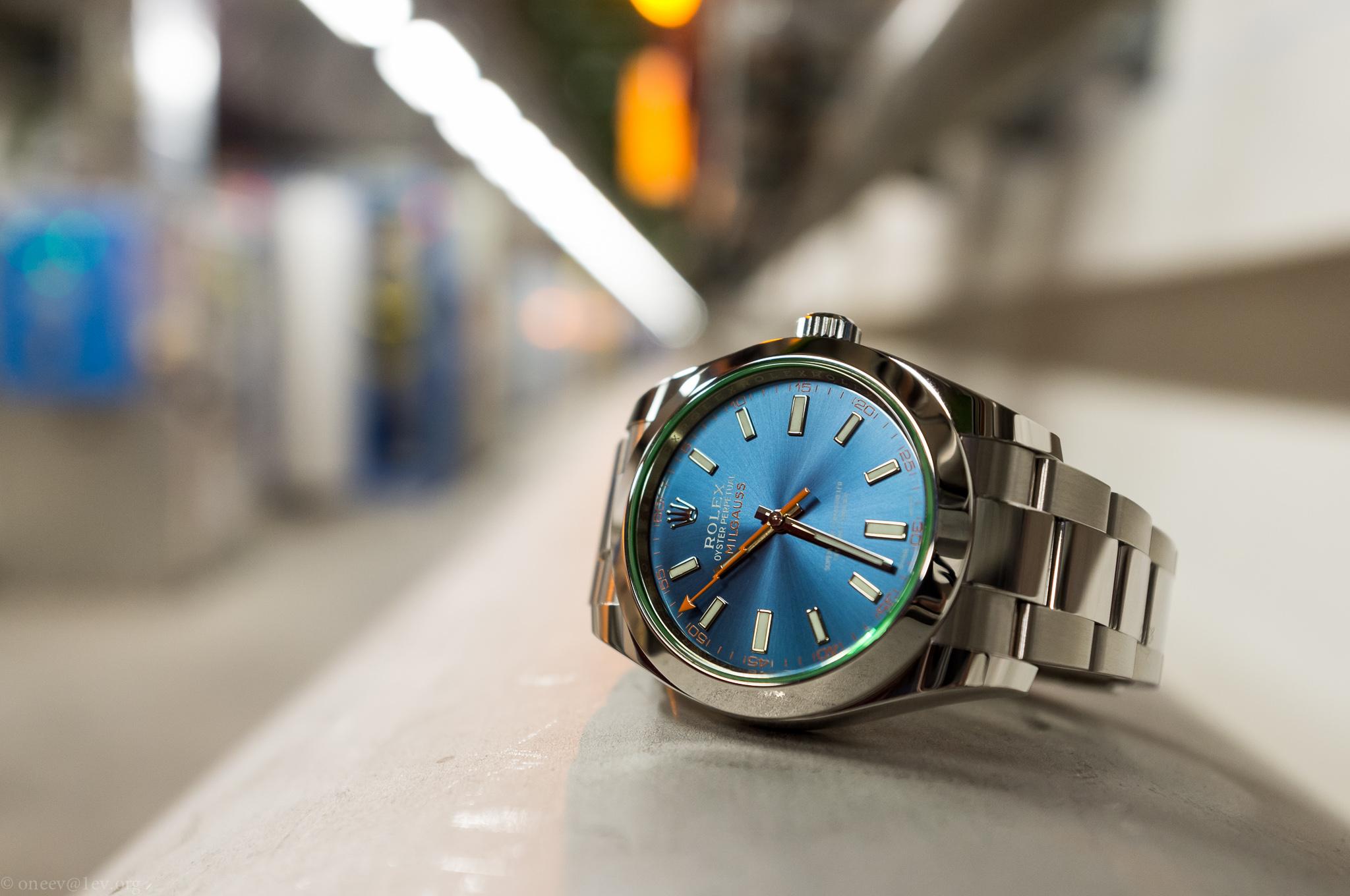 Revue illustrée de la Rolex Milgauss Z-Blue 20150209-DSCF6006