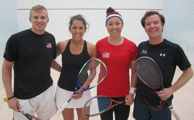 2016 State Mixed Doubles: Finalists - Graham Bassett & Fernanda Rocha; Champions - Amanda Sobhy & Pat Malloy