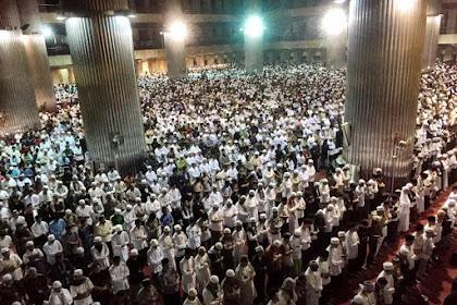 Begini Suasana Sholat Subuh di Masjid Istiqlal Pagi Ini