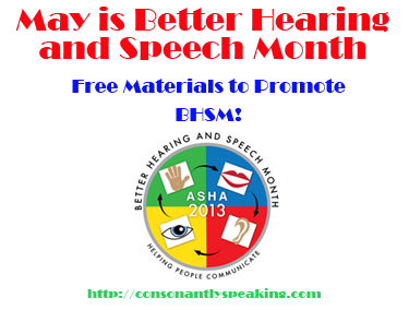 Free Materials to Promote Better Speech and Hearing Month 2013! image