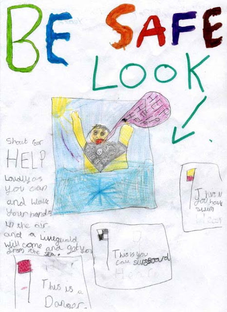 Sea safety poster - Kirsty