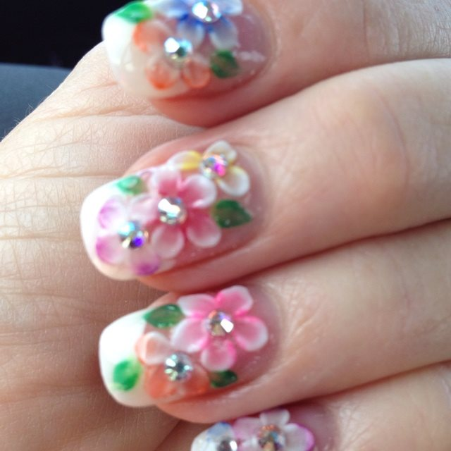 3d Acrylic Flowers Nail Art For 2017