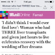 Being in the Daily Mail & Saying Thank You!