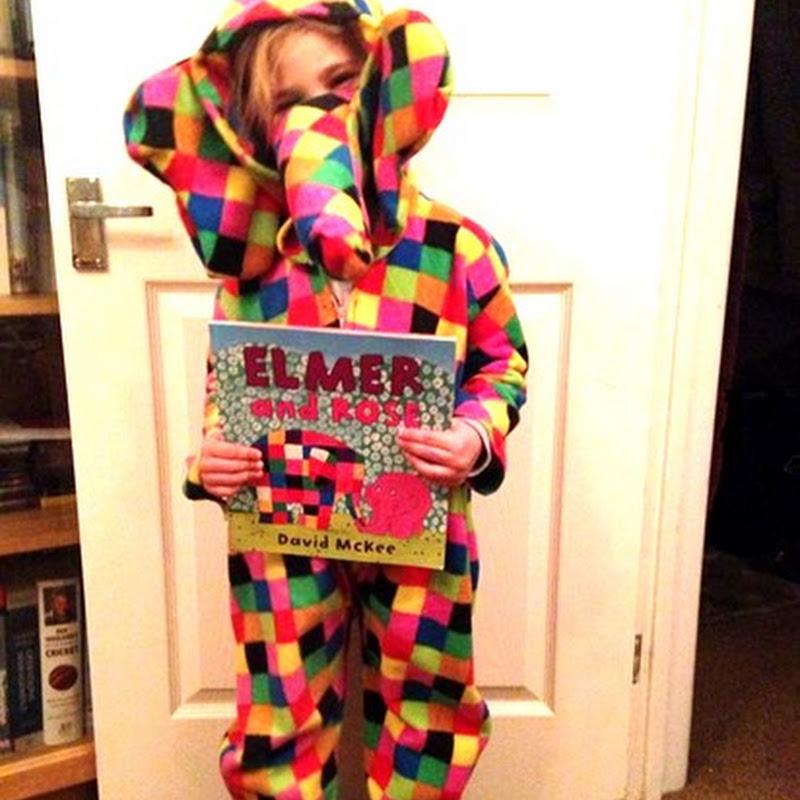 Elmer disfraz y actividades