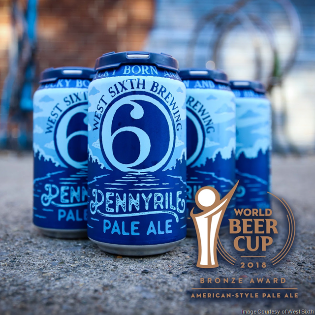 West Sixth Brewing wins Bronze Medal in World Beer Cup for Pennyrile Pale Ale