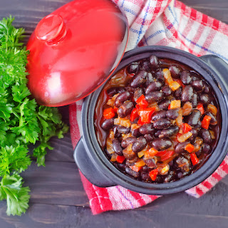 Three Bean Slow Cooker Vegan Chili.