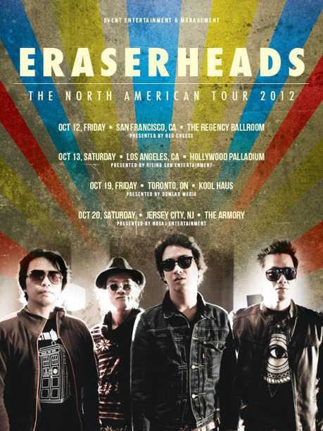 Eraserheads – The North American Tour 2012 – Poster