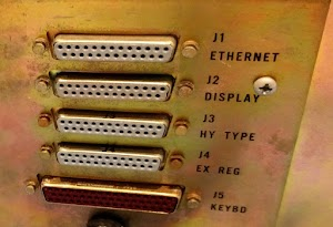 On the back of the Alto, Ethernet is accessed via a DB-25 connector that connects to a transceiver box.
