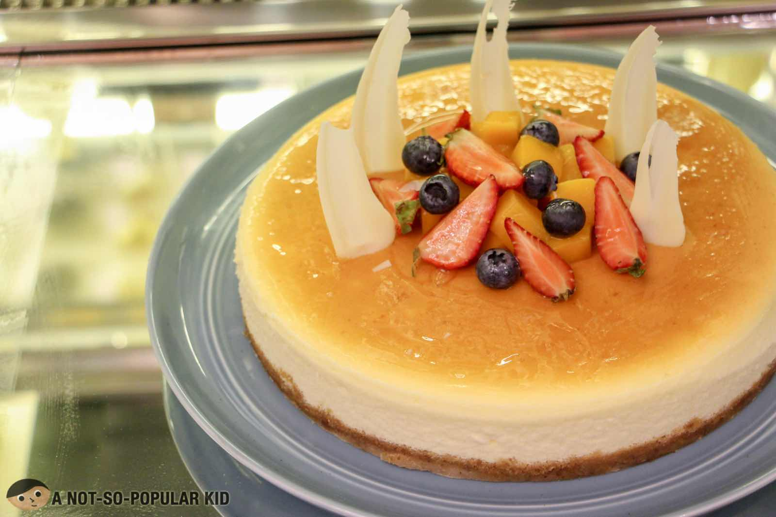 Smooth, airy cheesecake in Six Doors Buffet