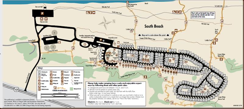 South Beach State Park Map