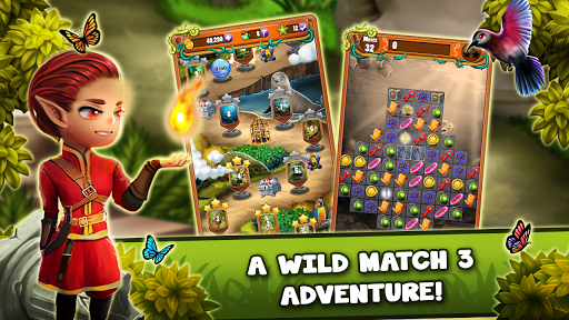 Match 3 Jungle Treasure u2013 Forgotten Jewels apkpoly screenshots 1